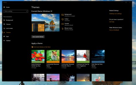 themes microsoft store how to apply themes to pcs and tablets on the windows 10