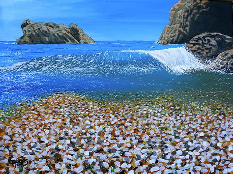 Glass Beach Russia glass beach fort bragg painting by jim bowers