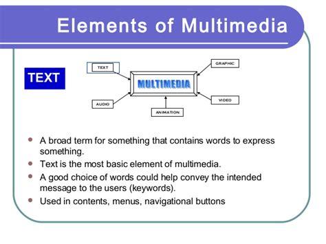 design elements of text media multimedia