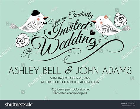 wedding invitation background designs mint green wedding invitation card with bird on mint green background