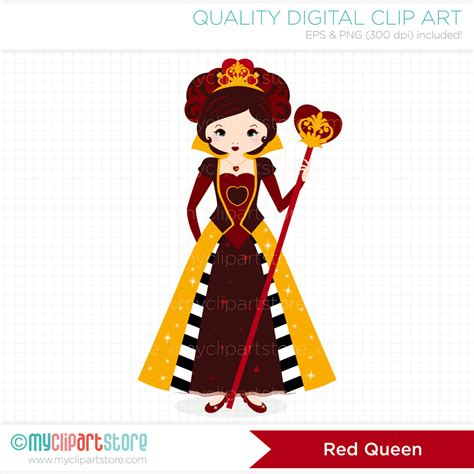 Hearts And Stars Kitchen Collection red queen queen of hearts clip art digital by