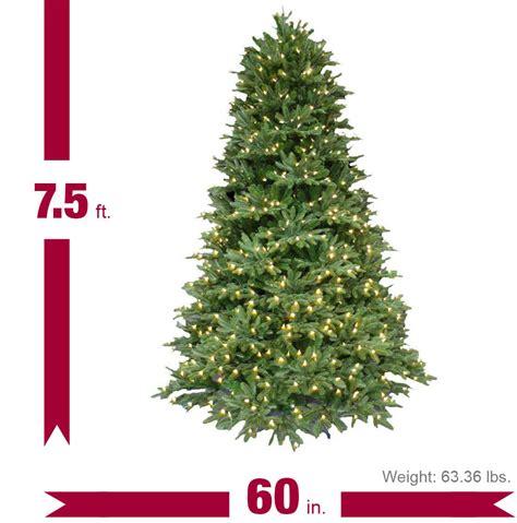 7 5 ft pre lit led balsam fir artificial tree
