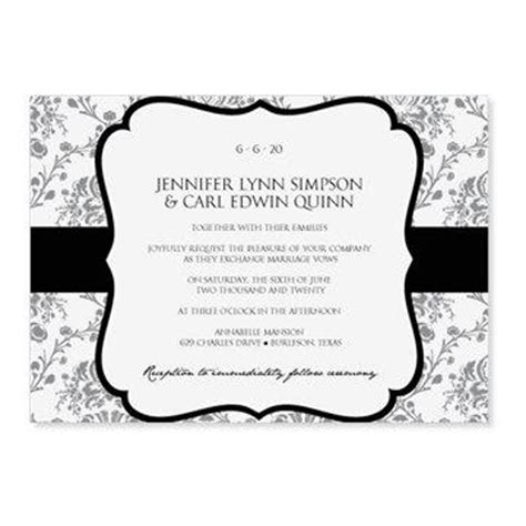 Instant Download Wedding Invitation Template Victorian Damask Black 5 X 7 Microsoft Word Paisley Wedding Invitation Template