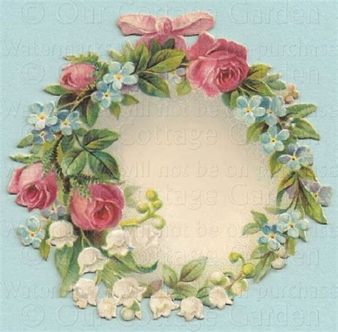 Cottage Garden China - wreath of roses lov amp forget me nots our cottage garden