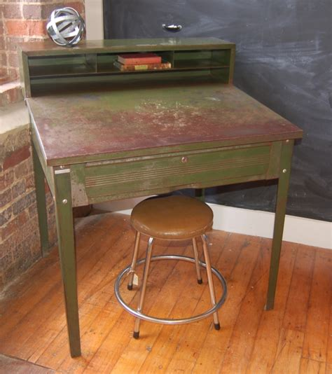 Small Steel Desk Small Industrial Desk Yellow Chair Market Small Metal Industrial Desk Design Whit