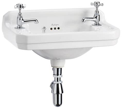 Designer Kitchens And Bathrooms burlington edwardian wall mounted 510mm cloakroom basin b8