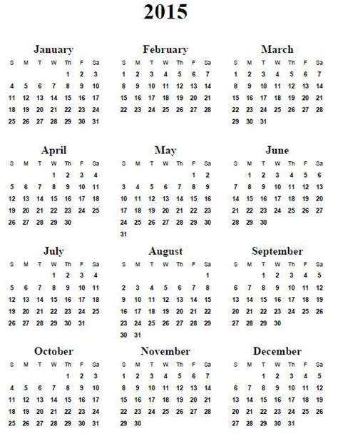 Printable Calendar Entire Year 2015 | printable calendar 2015 entire year calendar