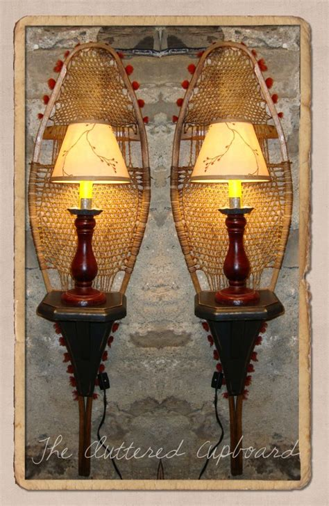 ski home decor check out these repurposed vintage snowshoes they ve