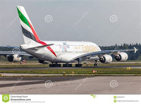 emirates germany emirates airbus a380 800 at the frankfurt airport
