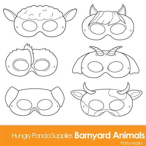 printable animal eye mask template barnyard animals printable coloring masks by