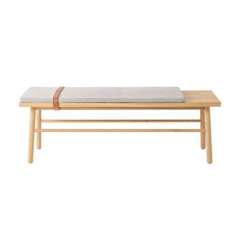 Wooden Bench With Cushion bloomingville wooden bench with cushion living and company