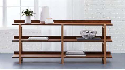 console store stax 3 shelf console table reviews cb2
