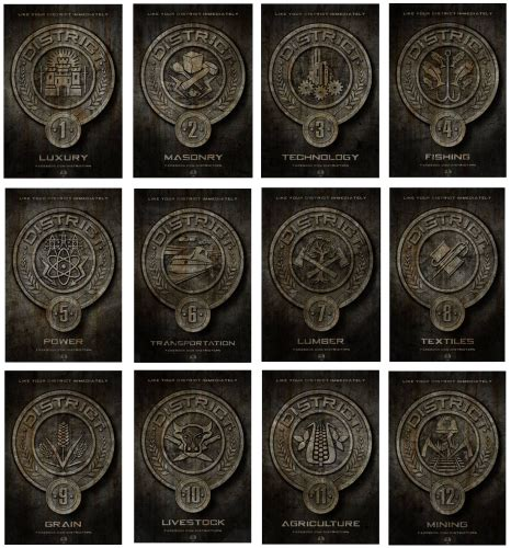 hunger games themes and symbols district medallions symbols whatever you want to call