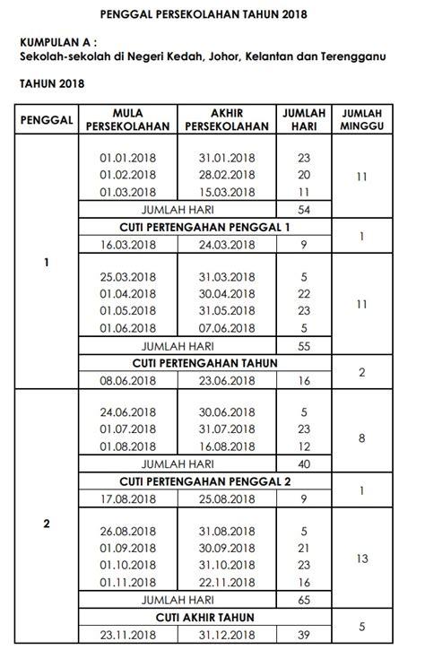 Kalendar 2018 Cuti Sekolah Kalendar Cuti Umum 2018 Malaysia Holidays
