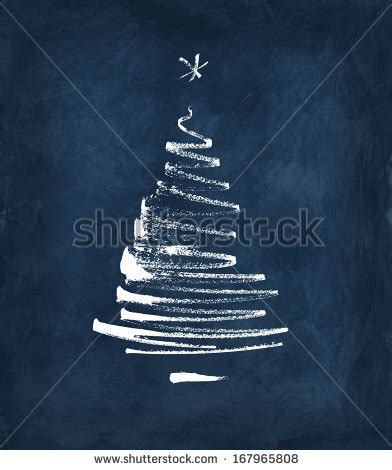 christmas tree stylized simplified reduced to a few
