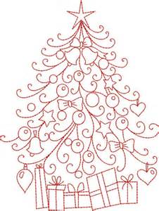 free hand embroidery pattern christmas tree