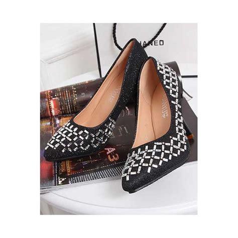 Sepatu Wanita High Heels Elegnt Hitam M081 sepatu high heel sh144 moro fashion