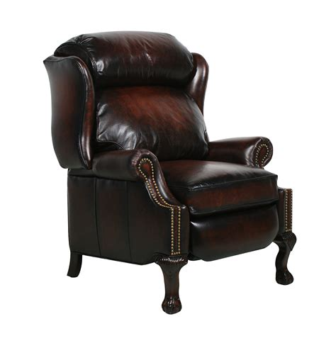 barcalounger recliner barcalounger danbury ll vintage reserve leather recliner