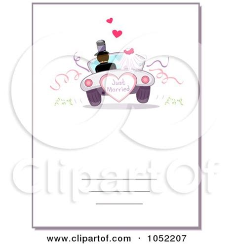 Wedding Car Poster by Clipart Just Married And Groom Driving Away In A