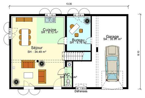 Transformer Garage En Chambre 170 by Plan Maison 90m2 Avec Garage