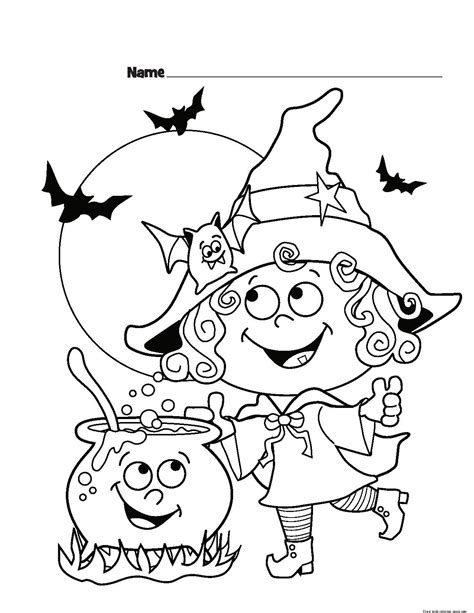printable pictures of halloween characters childrens halloween witch costumes coloring page for