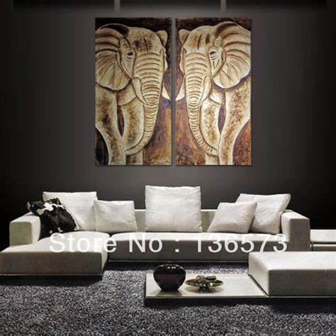 home decor paintings for sale 2 piece art set handpainted modern abstract grey animal