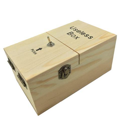 1pcs new black wood assembled diy mini useless box