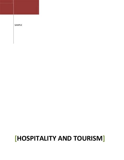 Mba Hospitality And Tourism Management by Hospitality And Tourism Bhavi Bhatia 411 Gmail