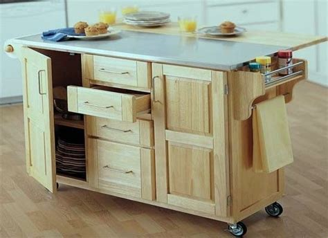 rolling island kitchen rolling kitchen island drop leaf stock the shelve cabinet with drop leaf added to the back