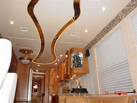 rv ceiling treatment interior upgrades rv truck
