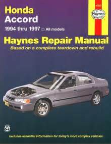 honda accord repair manual 1994 1997 haynes 42013