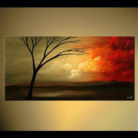 acrylic painting a tree abstract landscape contemporary acrylic tree painting by