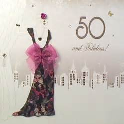 mojolondon 50 and fabulous birthday card by five dollar shake