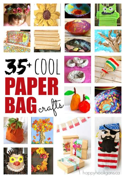 Things To Make For Out Of Paper - 35 cool things to make with a paper bag happy