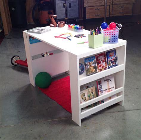 diy toddler desk white storage leg desk diy projects