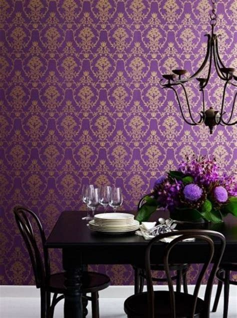 home decorating wallpaper purple gold wallpaper home decor pinterest