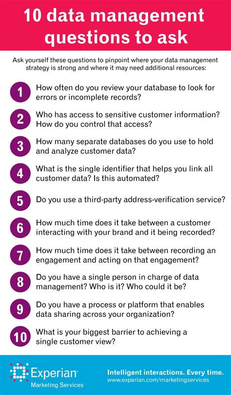 Ten Ways To Get A To Ask You Out by Data Management 10 Questions To Ask Yourself
