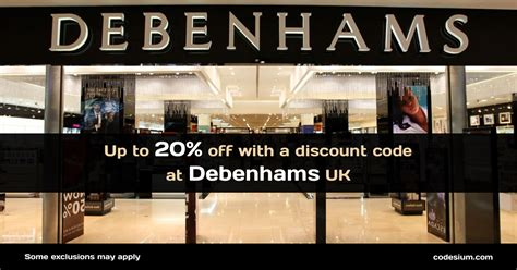printable vouchers for debenhams up to 20 off with debenhams discount codes april 2018