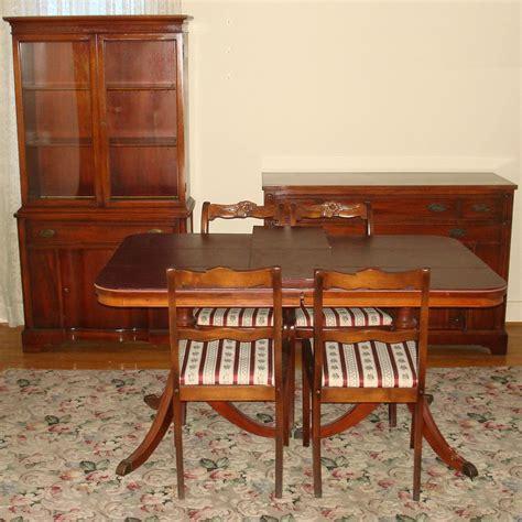 mahogany dining room set bernhardt duncan phyfe mahogany dining room set