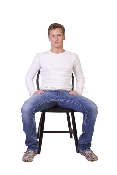 White Sitting Chair by White Sitting On Chair Relaxed Stock Images Image