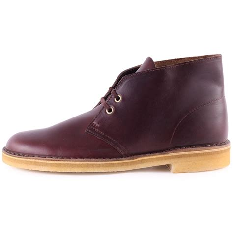 clarks desert boots mens clarks originals desert boot mens boots in wine