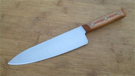 american made kitchen knives vintage 1980 s chicago cutlery 7 quot chef knife w cherrywood usa made ebay