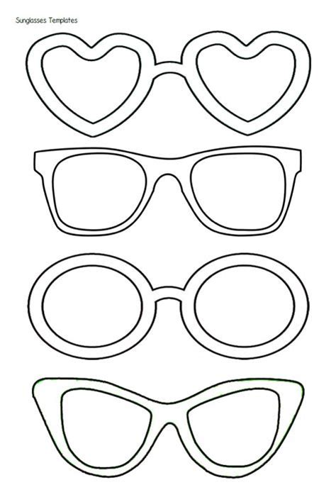 eyeglass template free coloring pages of the sun glasses
