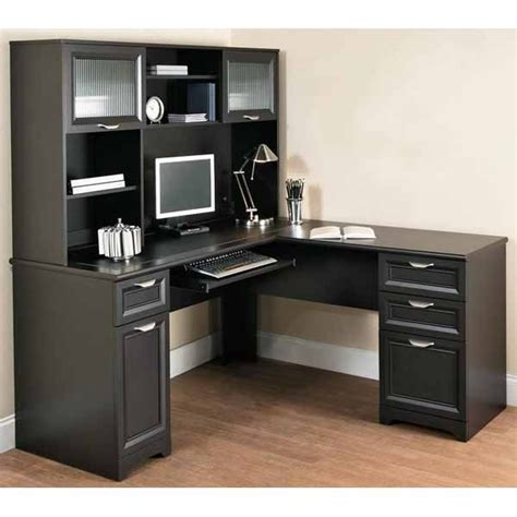 Corner Desk Office Depot Magellan L Shaped Desk Hutch Bundle Whitevan