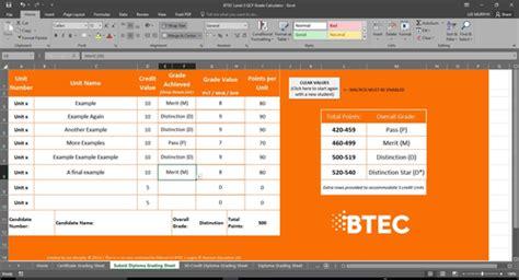 calculator level 24 btec level 3 qcf grade calculator by leemurphy1 teaching