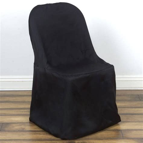 Cheap Black Chair Covers by Black Folding Chair Cover Flat Efavormart