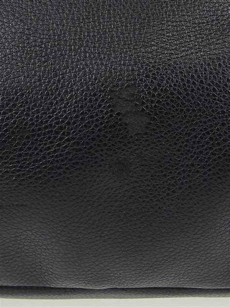 The Leather Miu Miu Black Pebbled Leather Large Tote Bag Yoogi S Closet