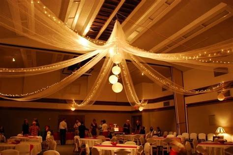This wedding reception at a church cultural hall doesn't