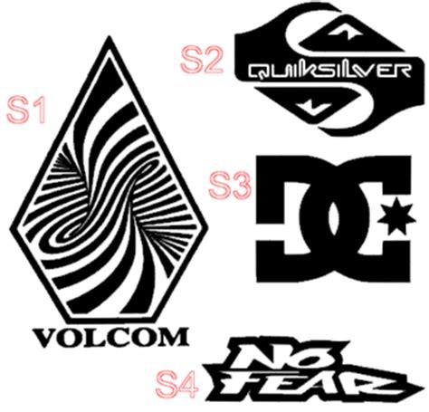 quiksilver logo design free your choice vinyl decal dc quiksilver volcom roxy