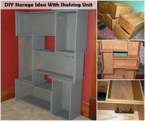 Colorful Bookcases Diy Storage Idea With Shelving Unit I Luv Diy